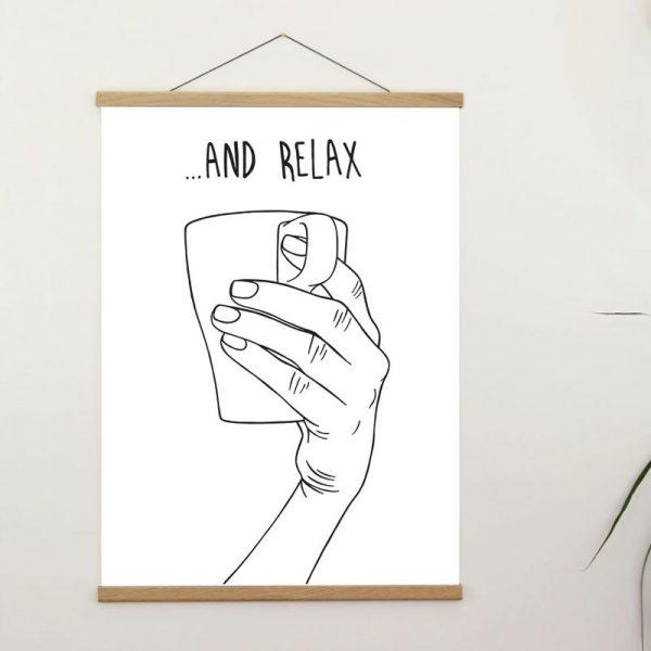line drawing design screen print