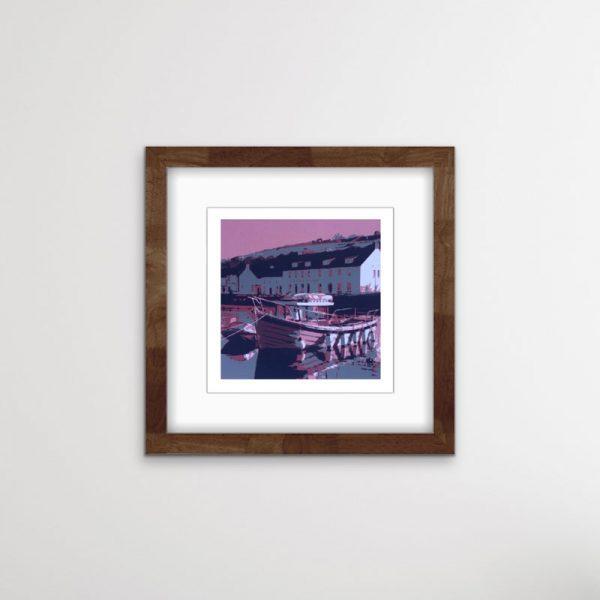 cushendun harbour screen print
