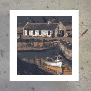 ballintoy harbour northern ireland screen print