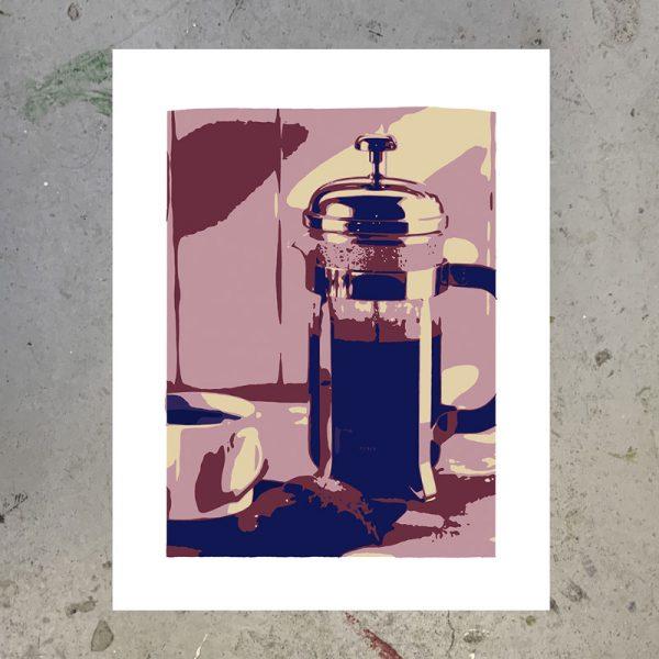 morning coffee screenprint naomi prints
