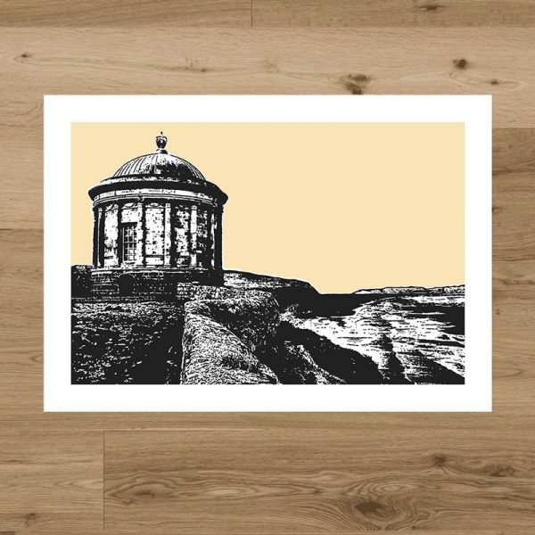 mussenden temple screen print