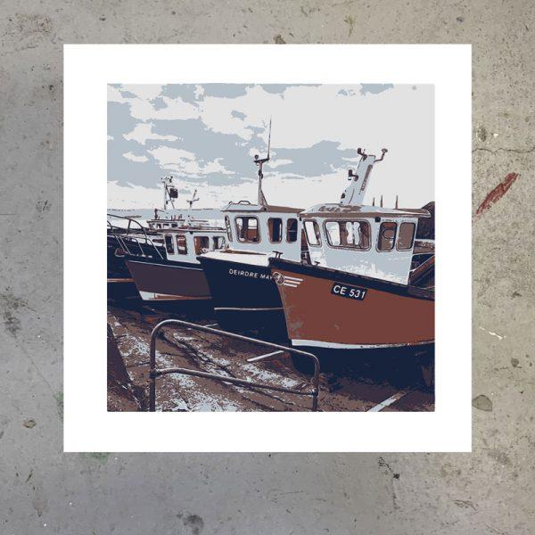 portstewart harbour print